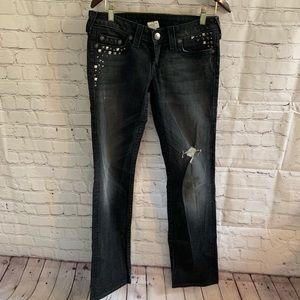 True Religion Julie Studded Embellished Jeans 29